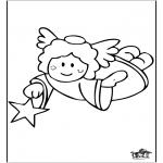 Allerlei Kleurplaten - Engel 1
