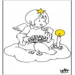 Allerlei Kleurplaten - Engel 2