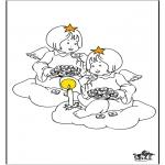 Allerlei Kleurplaten - Engel 3