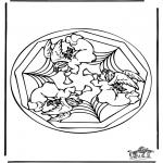 Mandala Kleurplaten - Engel mandala