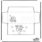 Knutselen - Envelop baby