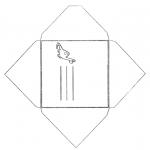 Knutselen - Envelop Dino
