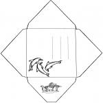Knutselen - Envelop Dolfijn