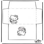 Knutselen - Envelop Hello Kitty