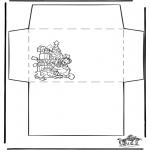 Kerst Kleurplaten - Envelop Kerst 1