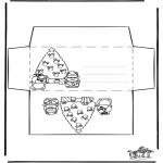 Kerst Kleurplaten - Envelop Kerst 2