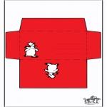 Kerst Kleurplaten - Enveloppe Sneeuwman