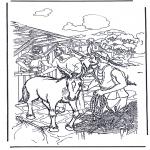 Kleurplaten Bijbel - Ezel voor palmpasen
