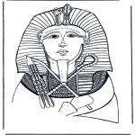 Allerlei Kleurplaten - Farao dodenmasker