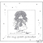 Knutselen - Fotolijstje voor opa