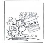 Stripfiguren Kleurplaten - Garfield 2