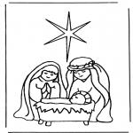 Kleurplaten Bijbel - Geboorte van Jezus 1