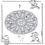Mandala Kleurplaten - Geo Mandala
