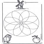 Mandala Kleurplaten - Geomandala 1