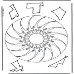 Mandala Kleurplaten - Geomandala 10
