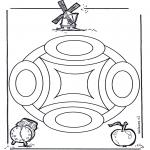 Mandala Kleurplaten - Geomandala 4