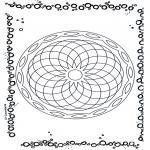 Mandala Kleurplaten - Geomandala 5
