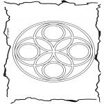 Mandala Kleurplaten - Geomandala 6