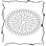 Mandala Kleurplaten - Geomandala 7