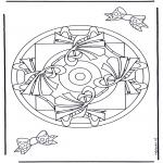 Mandala Kleurplaten - Geomandala 9