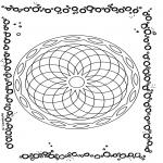 Mandala Kleurplaten - Geometrische Mandala 1