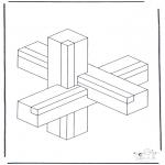 Allerlei Kleurplaten - Geometrische vormen 1