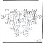 Allerlei Kleurplaten - Geometrische vormen 10