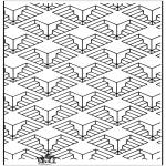 Allerlei Kleurplaten - Geometrische vormen 11