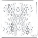 Allerlei Kleurplaten - Geometrische vormen 2