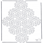 Allerlei Kleurplaten - Geometrische vormen 4