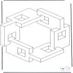 Allerlei Kleurplaten - Geometrische vormen 5