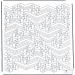 Allerlei Kleurplaten - Geometrische vormen 6