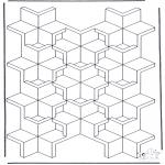 Allerlei Kleurplaten - Geometrische vormen 7