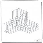 Allerlei Kleurplaten - Geometrische vormen 9