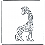 Kleurplaten Dieren - Giraffe 2