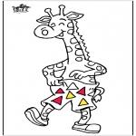 Kleurplaten Dieren - Giraffe 5