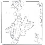Allerlei Kleurplaten - Gloster Meteor