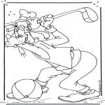 Stripfiguren Kleurplaten - Goofy 2