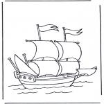 Allerlei Kleurplaten - Groot zeilschip