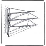 Allerlei Kleurplaten - Grote zeilboot