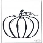 Thema Kleurplaten - Halloween pompoen