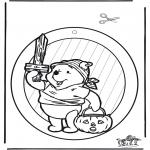 Thema Kleurplaten - Halloween raamhanger 1