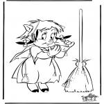 Thema Kleurplaten - Halloween zoek 10 bezems