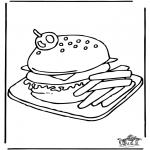 Allerlei Kleurplaten - Hamburger