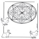 Mandala Kleurplaten - Harten mandala 1