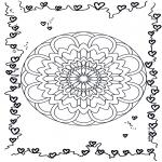 Mandala Kleurplaten - Harten Mandala 3