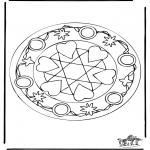 Mandala Kleurplaten - Harten Mandala 5