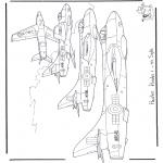 Allerlei Kleurplaten - Hawker Hunter