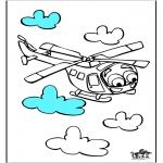 Allerlei Kleurplaten - Helicopter 3