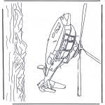 Allerlei Kleurplaten - helicopter boven zee